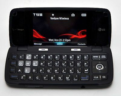 LG Voyager VX10000 Verizon Cell Phone BLACK flip touchscreen camera bluetooth c