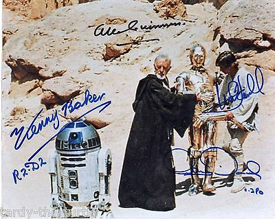 Star Wars Cast #3 8 x 10 Autograph Reprint Mark Hamill Alec Guinness Kenny Baker