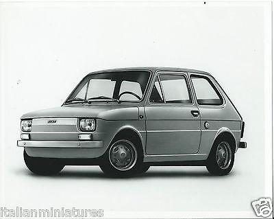 Fiat 126 Original Press Photograph 1980 Excellent Condition