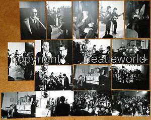 16-PHOTOS-A-HARDS-DAYS-NIGHT-FILMING-LONDON-MARCH-64-SOLD-WITH-COPYRIGHT-BEATLES