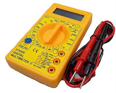 Polimetro Multimetro Digital Profesional Amperimetro Tester Pila y Cables 910R