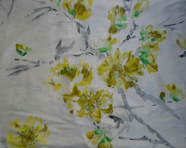 Designers Guild Fabric ~ 'Oriental Flower' 2.1 METRES (210cm) Acacia - 100% Silk