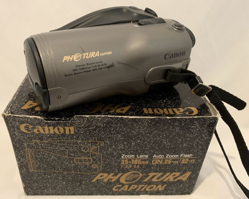Vintage Canon Photura Caption Still Camera Untested