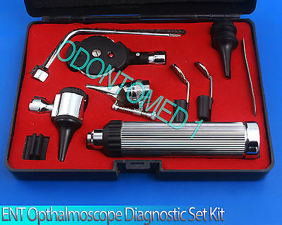 Ent Otoscope Ophthalmoscope Opthalmoscope Nasal Larynx Diagnostic Set