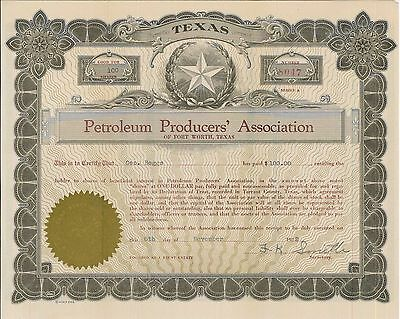 Petroleum Producers' Association   1922 Texas old stock certificate share
