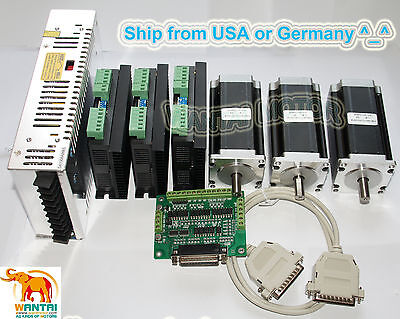 3 Axis Nema23 Stepper Motor 428oz-in. Dual Shafts Cnc Engrave Mill Controller