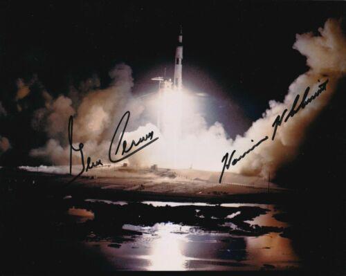 Gene Cernan / Harrison Schmitt Autographed Signed 8x10 Photo (Apollo 17) REPRINT