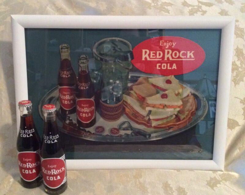 VINTAGE RED ROCK COLA SIGN