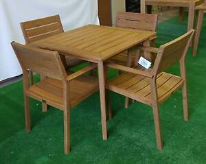 New Outdoor Furniture Capri 5Pc Timber Dining Setting Table Chair Melbourne CBD Melbourne City Preview