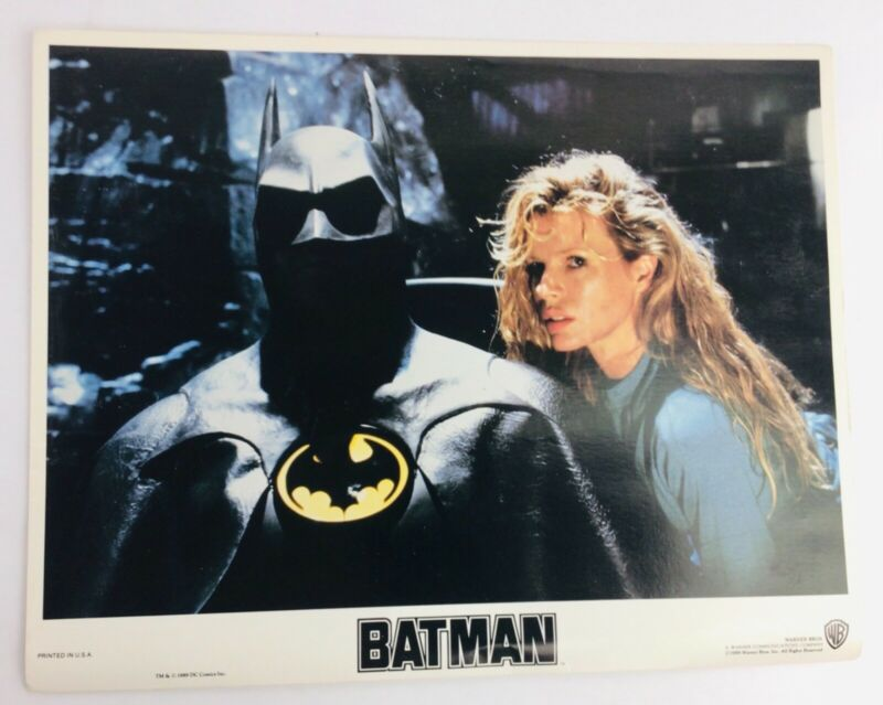 """Batman"" Original 11x14 Authentic Lobby Card Photo 1989 Batman & V.Vale"