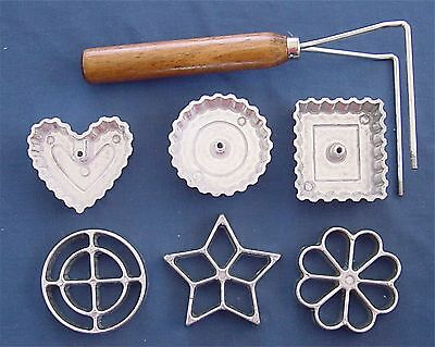 Progressive Intl Corp 7 Piece Aluminum Rosette   Timbale Set Pastry Cooks Tool