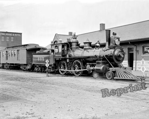 Photograph of the Schenectady Built Locomotive #605 Year 1870  8x10