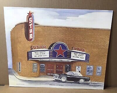 Memories of 50s ~ Leo Bryant Limited Edition Print Signed ~Star Theater Kentucky