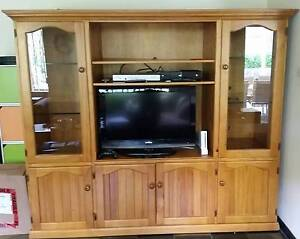 Wood TV Entertainment Cabinet Cherrybrook Hornsby Area Preview