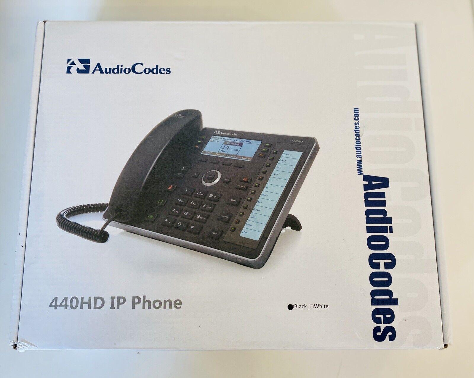 AudioCodes 440HD IP Phone VoIP black HD handset and base BRA