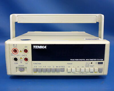Tenma True Rms Digital Multimeter 72-410a Acdc Voltscurrent Freq Load Tested