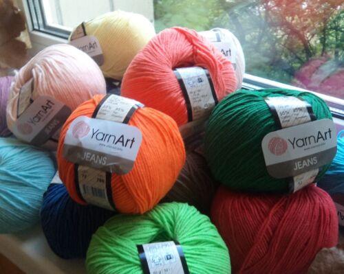 Yarn YarnArt Jeans cotton yarn acrylic cotton thread crochet cotton 50g
