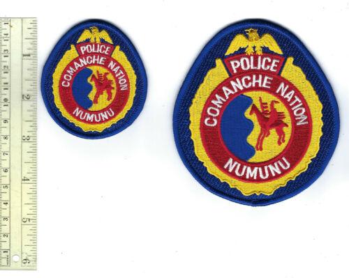 Comanche Nation Numunu Indians OK Oklahoma Tribal Police patch set - NEW!