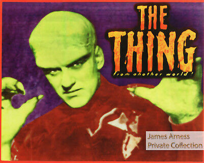 """James Arness Private Collection James Arness """"The Thing""""  8 x 10 Color Reprint"""