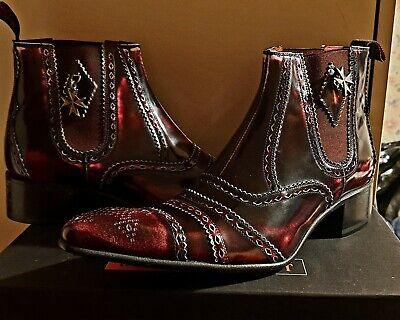 Jeffrey west burgandy  boots Size UK 8 EUR 42