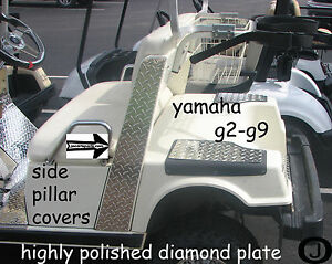 Yamaha g2 g9 golf cart diamond plate side pillar covers ebay for G9 yamaha golf cart parts