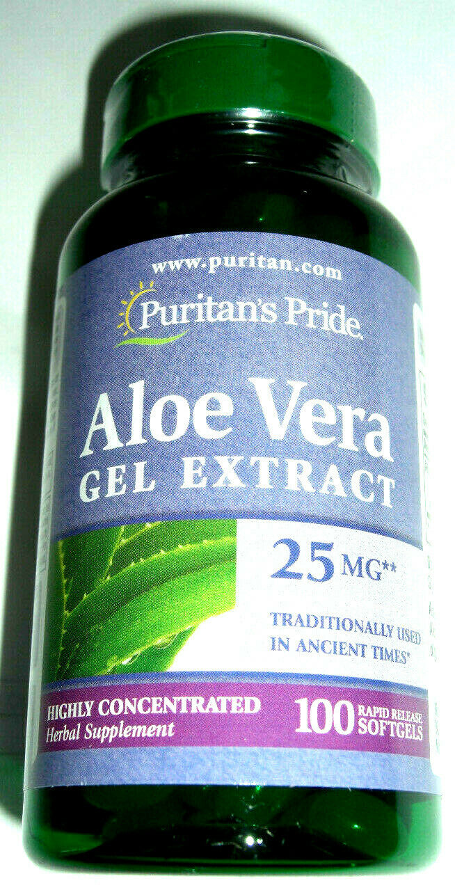 Aloe Vera Gel Herbal Supplements Healthy Digestive System 50