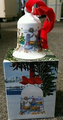 Hutschenreuther: Weihnachts-Glocke, Fischerdorf, 1984, OVP