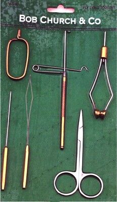 Bob Church & Co Fly Tying Tool Kit  / Tools  Fishing Tools   FA 104