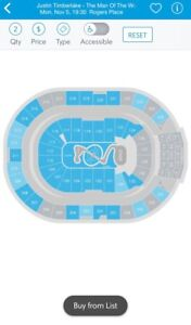 Justin Timberlake tickets (close to stage)