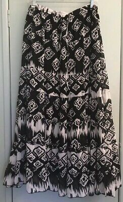 Jessica London Women's Size 22 Long Fully Lined 7 Tiered Black & White Skirt - Jessica Tweed Skirt