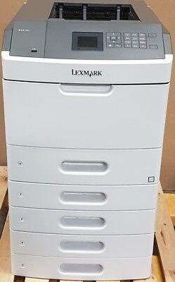 Lexmark MS810N Laserdrucker graphit-weiß + 5fach Papierschubladen Zustand gut