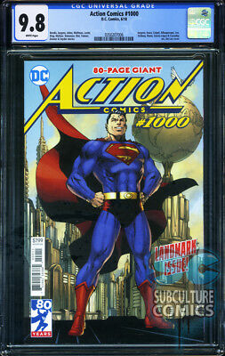 Action Comics  1000   First Print   Dc Comics   Cgc 9 8   Sold Out   80Th Ann