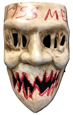 UK The Purge Kiss Me Film Neu Kostüm Maske Kostüm Kinder Erwachsene Halloween ()