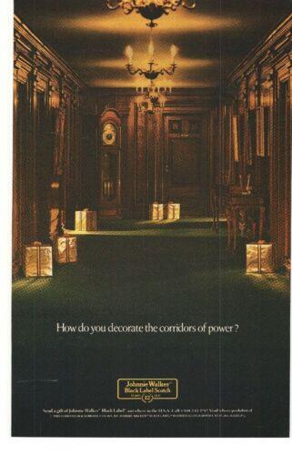 1989 Johnnie Walker Black Label Scotch Advertisement