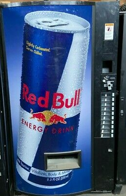 Vendo 540 Cold Drink Bottle Can Vending Machine Red Bull