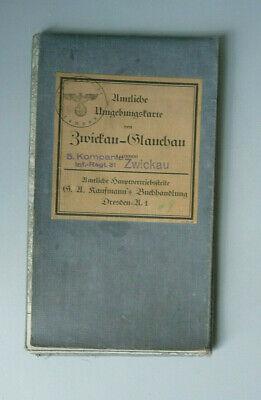 Map Umgebungskarte Zwickau Glauchau 1931 Stamp Inf. Rgt. 31