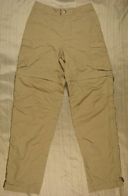 W's REI Sahara Convertible Pants Shorts 2 no sit zips zip off -