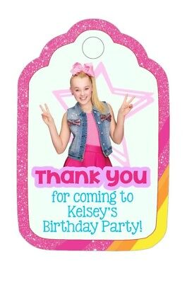 Personalized Custom Birthday Party Favor Tags. JOJO SIWA with your child's name](Party Favor Tags)
