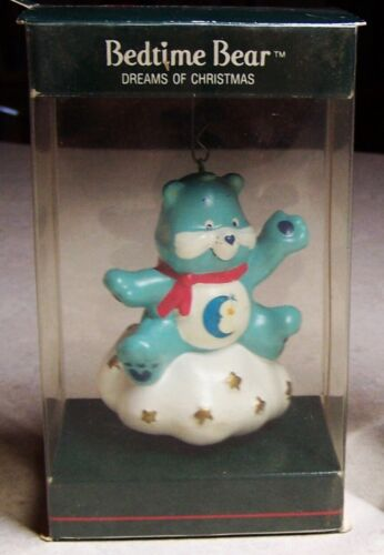 "Vintage 1985 Care Bears Bedtime Bear Ornament ""Dreaming of Christmas""  NIB"