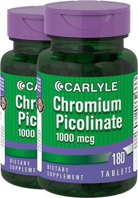 2 Bottles Ultra Chromium Picolinate 1000 mcg 360 Tablets Carlyle  for sale  Shipping to India