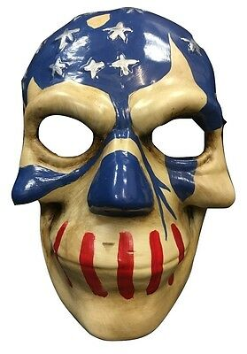 THE PURGE USA PLASTIC MOVIE FANCY DRESS MASK CHILD ADULT COSPLAY ELECTION YEAR 3