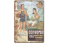 """1965 Converse Basketball Yearbook RARE 10/"""" x 7/"""" Reproduction Metal Sign"""