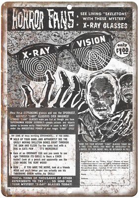 "X-Ray Vision Glasses Horror Fans Comic Ad 10"" X 7"" Reproduction Metal Sign J120 for sale  Parlin"