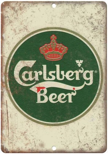 Carlsberg Beer Man Cave Décor Vintage Ad Reproduction Metal Sign E140