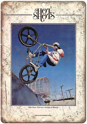 "10"" x 7"" Metal Sign - BOB HARO BMX Action Magazine - Vintage Look Reproduction"