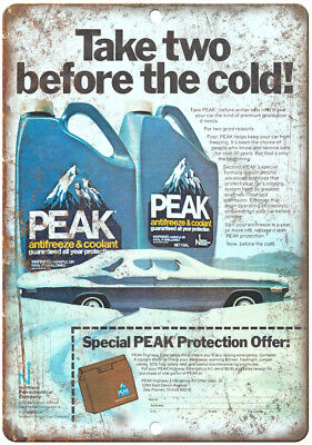 "Peak Antifreeze & Coolant Vintage Ad 10"" x 7"" Reproduction M"