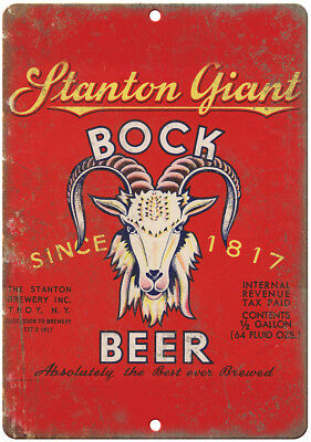 Stanton Giant Bock Beer Vintage Breweriana Reproduction Metal Sign E47 ()