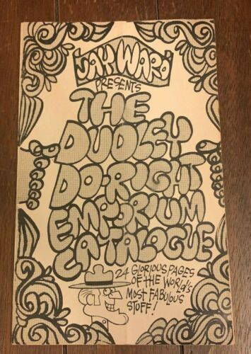 RARE 1972 JAY WARD PRESENTS THE DUDLEY DO-RIGHT EMPORIUM CATALOGUE 24 PAGES