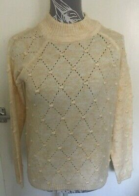 LADIES TU CREAM JUMPER WITH BOBBLES PULLOVER BNWT SIZE 18 XMAS GIFT PRESENT