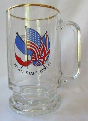 ALLIED STAFF BERLIN .5L GLASS BEER STEIN MUG